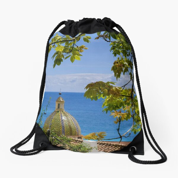 Positano on the Amalfi Coast of Italy Drawstring Bag