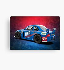 Blue Aussie Racing Car Canvas Print