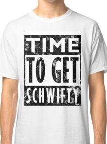 Rick and Morty Get Schwifty Lyrics Print Classic T-Shirt
