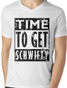 Rick and Morty Get Schwifty Lyrics Print Mens V-Neck T-Shirt