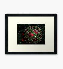 Red & green cross work Framed Print