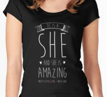 Pretty Little Liars - She's Amazing Women's Fitted Scoop T-Shirt