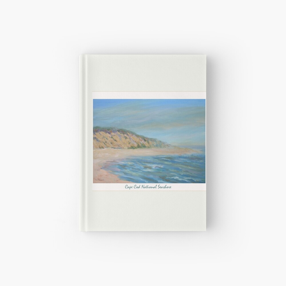 Cape Cod National Seashore. Oil painting of the unspoiled dunes and beach of Cape Cod. Hardcover Journal