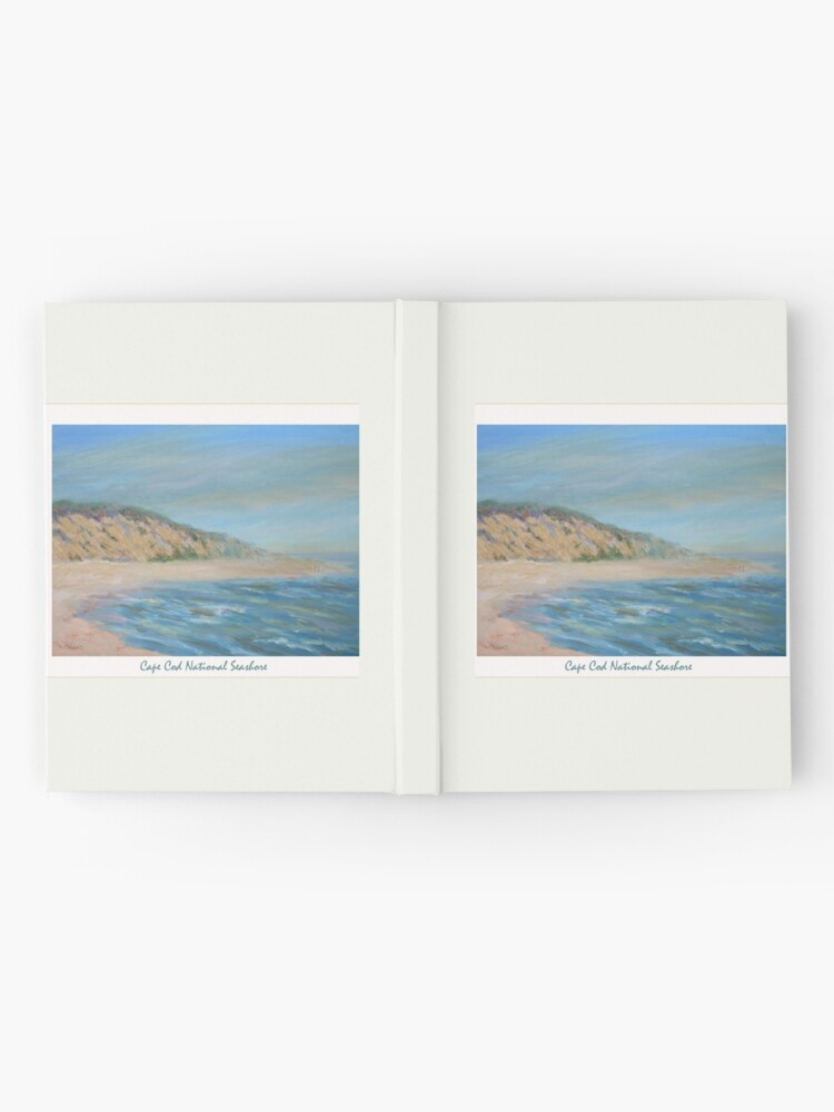 Alternate view of Cape Cod National Seashore. Oil painting of the unspoiled dunes and beach of Cape Cod. Hardcover Journal