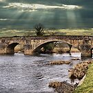 Edisford Bridge, Clitheroe, Lancs, UK. by Sandra Cockayne