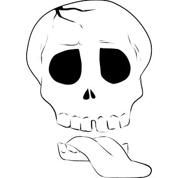 ZombieHIPPY • Skull - White by ZombieHippy