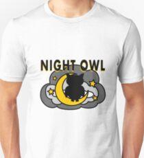 Owl Sitting on the Moon Unisex T-Shirt
