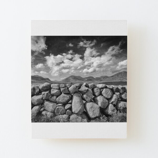 Mourne Wall View Wood Mounted Print