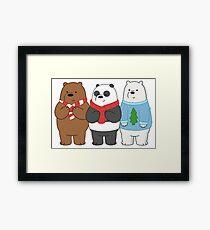 We Bare Bears Framed Print