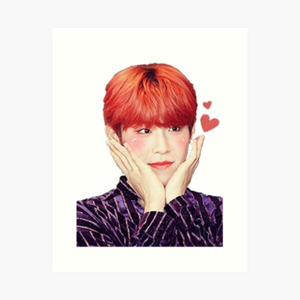 AB6IX Park WooJin Flower Face Baby Bird Art Print