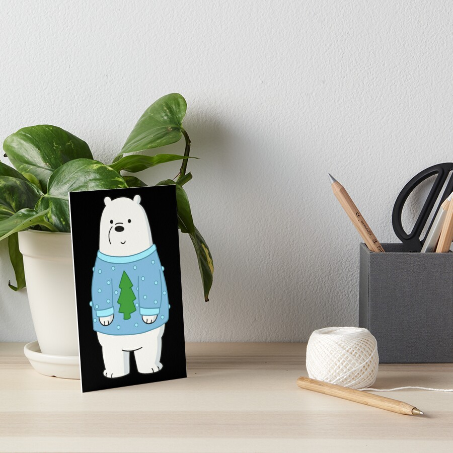 Ice Bear Art Board Print