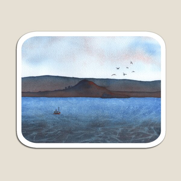 Berwick Law and Craig Leith, December 2018 Magnet