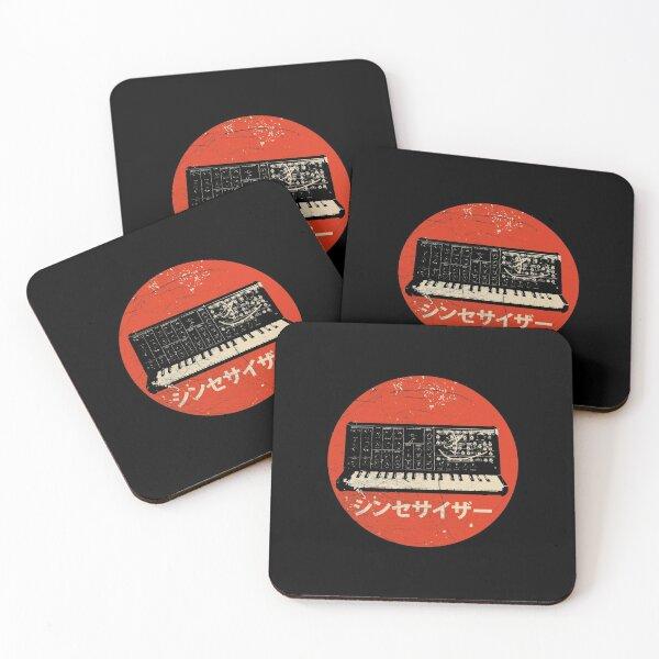 Vintage Synthesizer - Japanese Synth Analog Retro design Coasters (Set of 4)