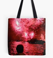 Lights on Sydney Harbour - New Years 2010-11 Tote Bag