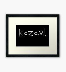 Kazam! (white) Framed Print