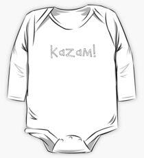 Kazam! (white) One Piece - Long Sleeve