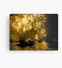 New Years Fireworks - Sydney Harbour 2010 Metal Print