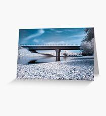 Highway bridge in IR Greeting Card