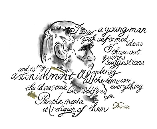 Charles Darwin Picture Quote - Wonder Over Everything by Douglas Rickard
