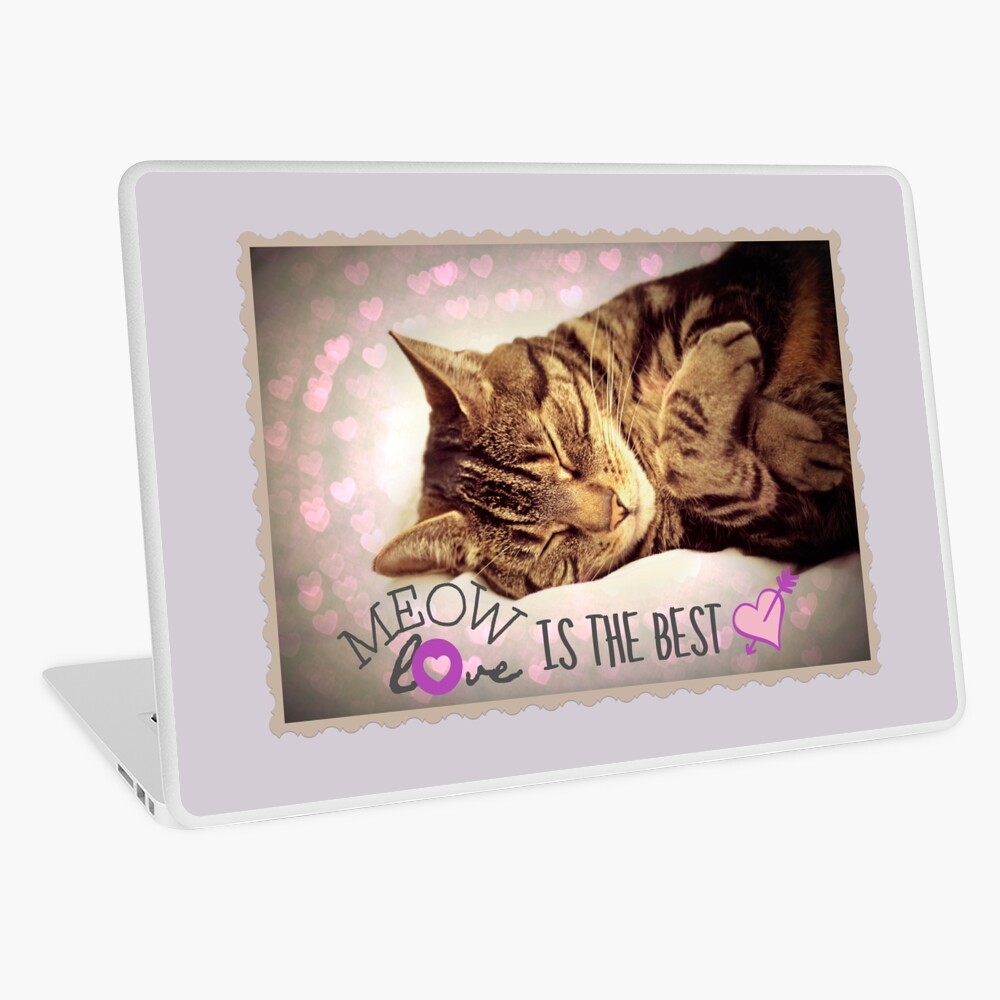 Meow Love is the Best Laptop Skin
