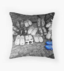 Delft's Blue Throw Pillow