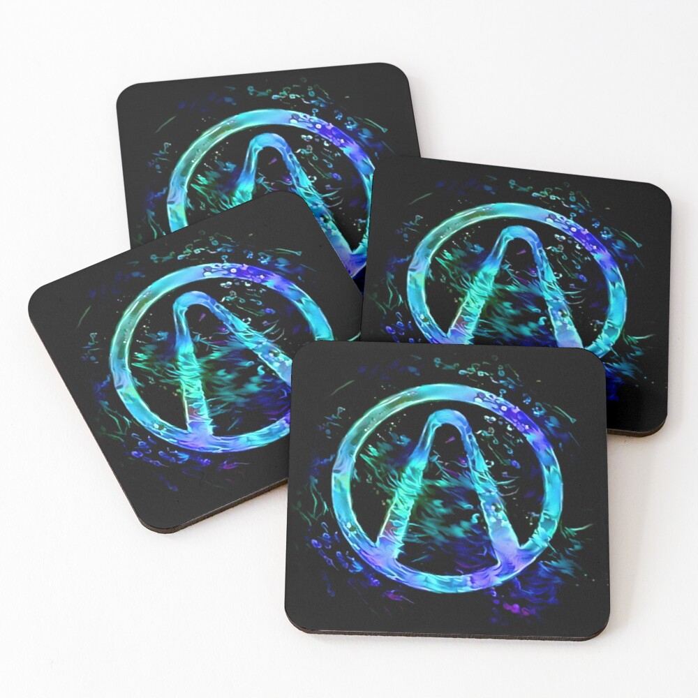 Black Light Vault Hunter Coasters (Set of 4)