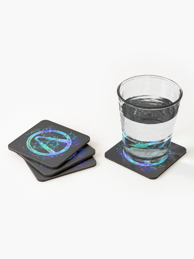 Alternate view of Black Light Vault Hunter Coasters (Set of 4)