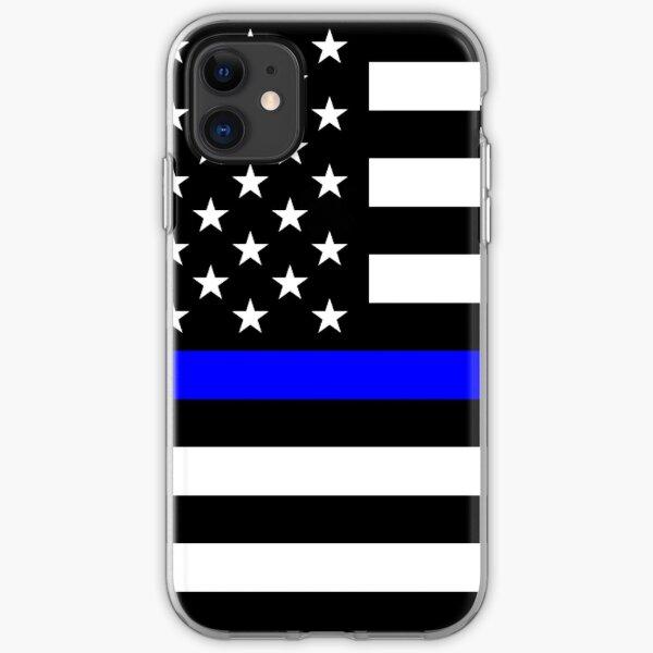 Blue Lives Matter Thin Blue Line Full Print iPhone Soft Case