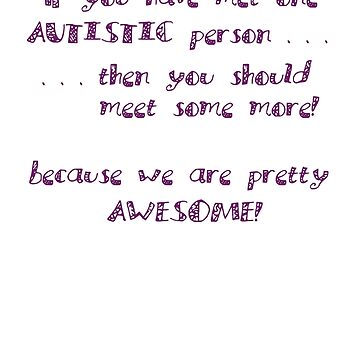 One Autistic Person - Confetti Letters - Light Background by sparrowrose