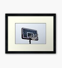 Basketball hoops. Framed Print
