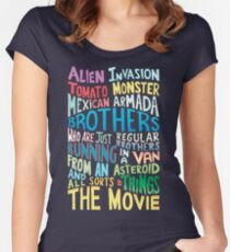 Rick and Morty Two Brothers Handlettered Quote Women's Fitted Scoop T-Shirt