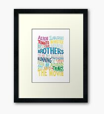 Rick and Morty Two Brothers Handlettered Quote Framed Print