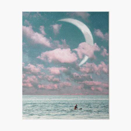 Sunset Surf Art Board Print