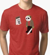Friday The 13th Parody Tri-blend T-Shirt