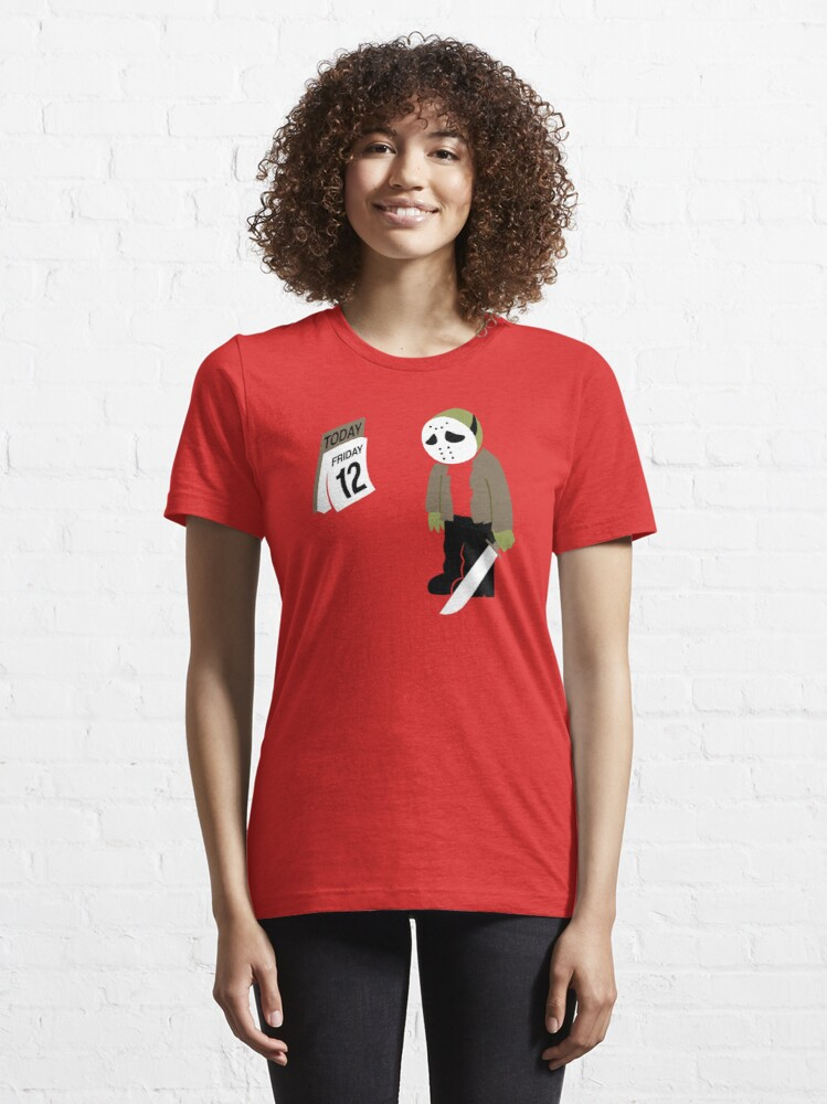 Alternate view of Friday The 13th Parody Essential T-Shirt
