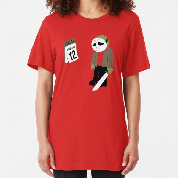 Friday The 13th Parody Slim Fit T-Shirt