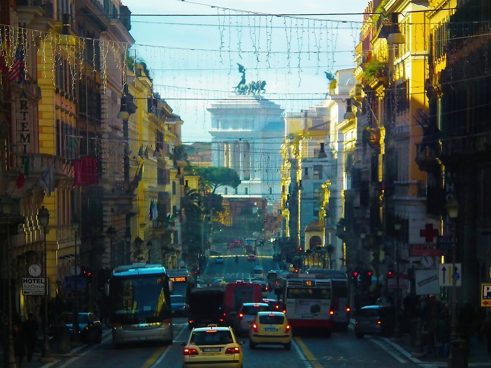 Busy Roman Road by ElsieBell