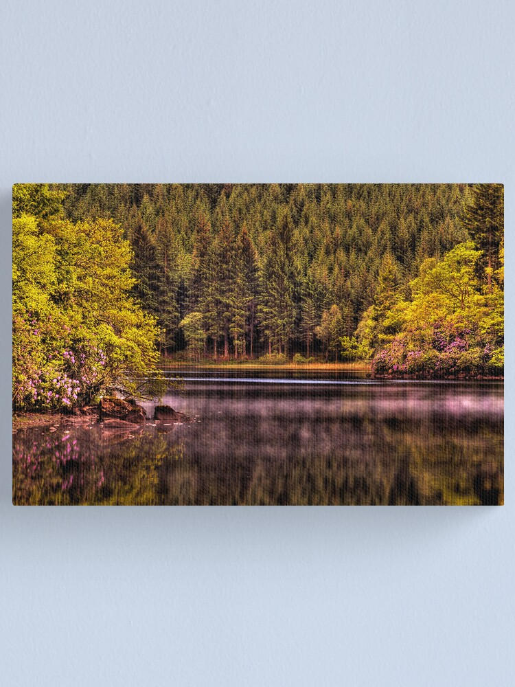 Alternate view of Forty Shades of Green - and a bit of Pink! Canvas Print