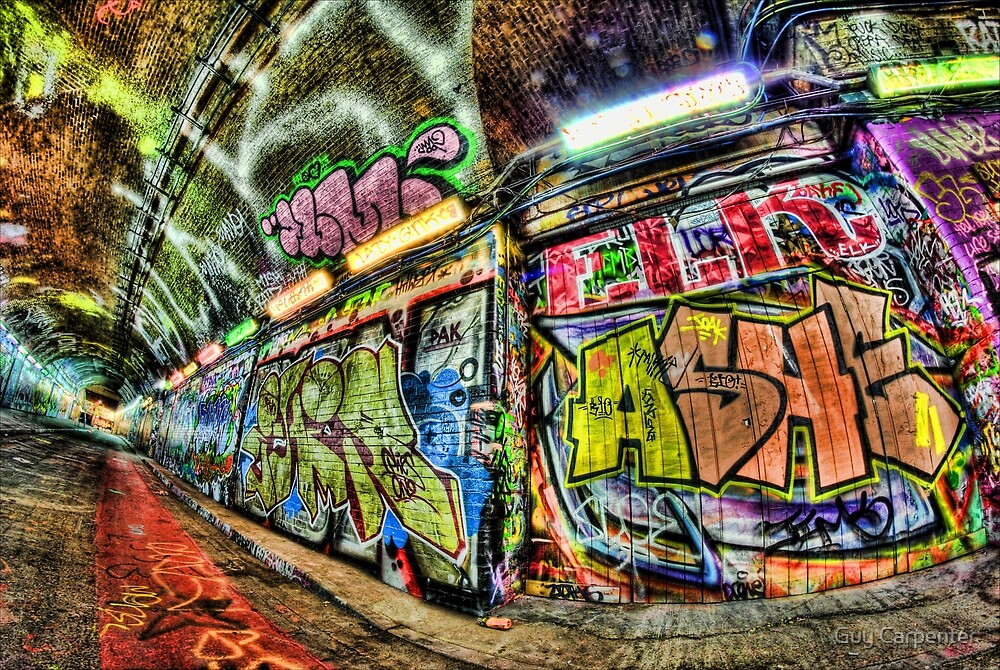 """Ashe"" Graffiti, London by Guy Carpenter"