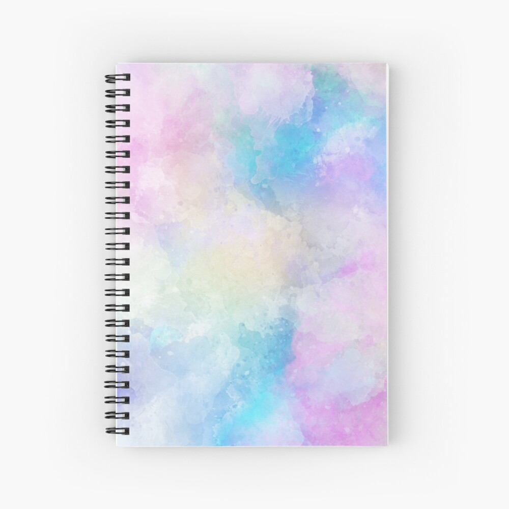 Watercolour Background  Spiral Notebook