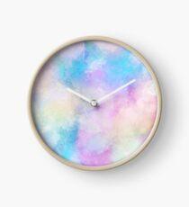 Watercolour Background  Clock