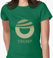 Donald Trump Obama Comb-over Logo Womens Fitted T-Shirt