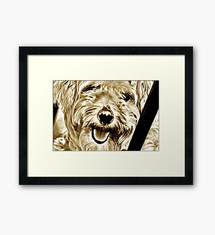 Ummo smiles: On Featured Work Framed Print