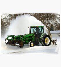Snow Blowing South Dakota Style! Poster