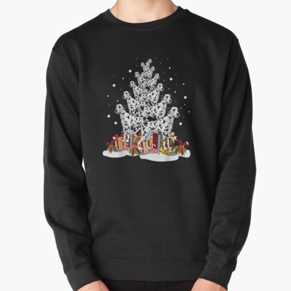 Dalmatian Christmas Tree Merry Xmas  Pullover Sweatshirt