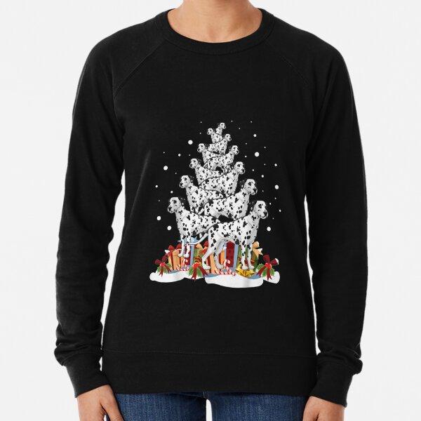 Dalmatian Christmas Tree Merry Xmas  Lightweight Sweatshirt