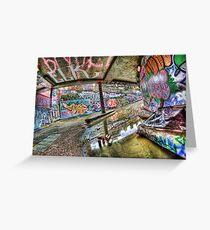 Graffiti and reflection Greeting Card