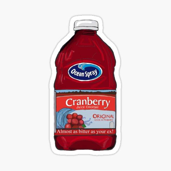 Ocean Spray Cranberry Juice Bitter Ex Sticker