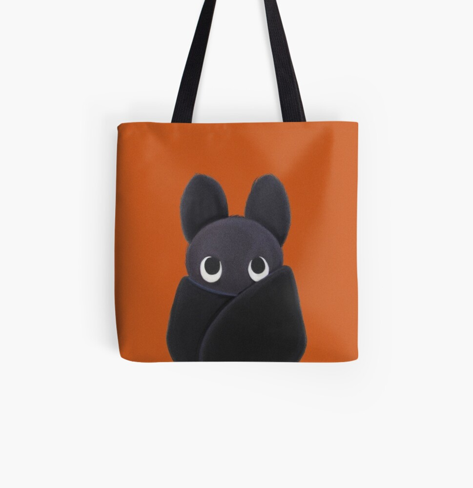 Lili the bat All Over Print Tote Bag