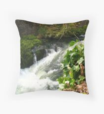 Backbarrow Rocks Throw Pillow